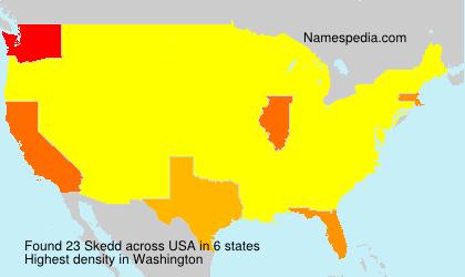Surname Skedd in USA