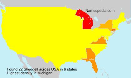 Surname Skedgell in USA