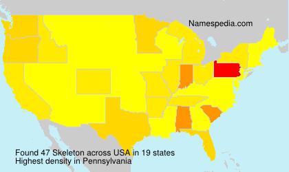 Familiennamen Skeleton - USA