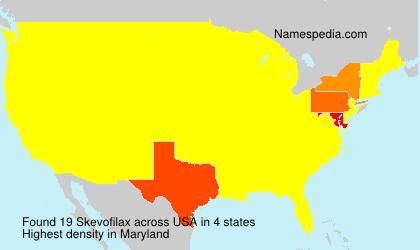 Familiennamen Skevofilax - USA