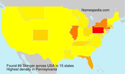 Surname Skinger in USA