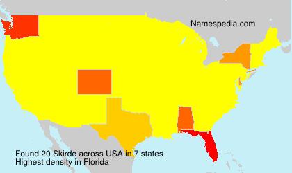 Surname Skirde in USA