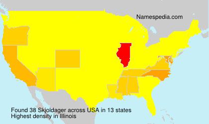 Surname Skjoldager in USA