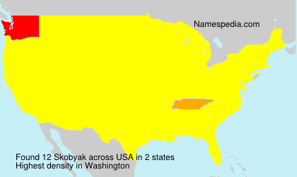Surname Skobyak in USA