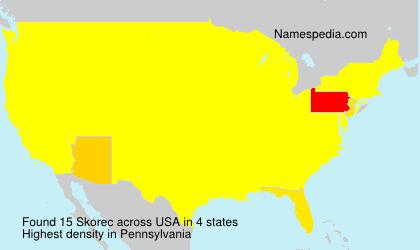 Surname Skorec in USA