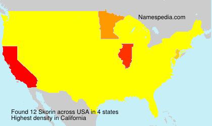 Surname Skorin in USA