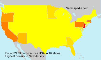 Surname Skourtis in USA