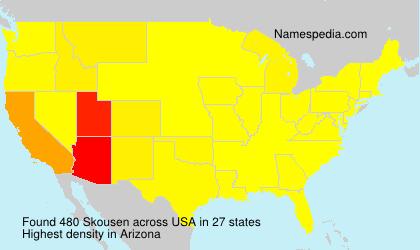 Surname Skousen in USA
