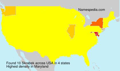 Surname Skrabek in USA