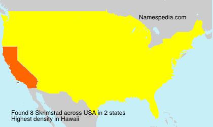 Surname Skrimstad in USA