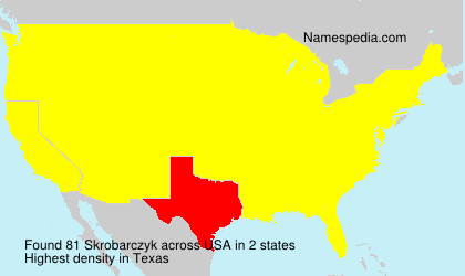 Surname Skrobarczyk in USA