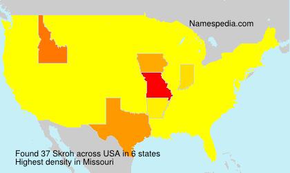 Familiennamen Skroh - USA