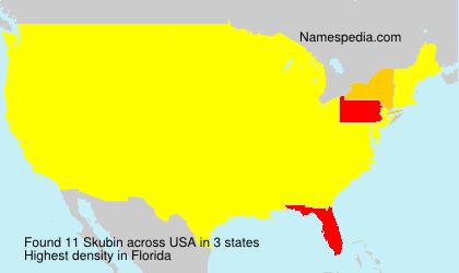 Surname Skubin in USA