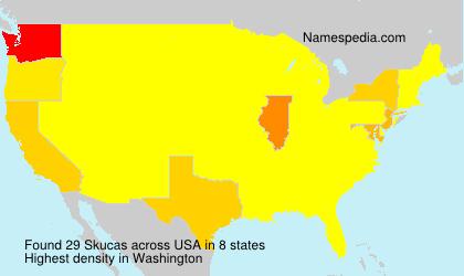 Surname Skucas in USA