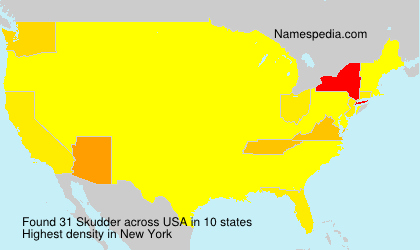 Surname Skudder in USA