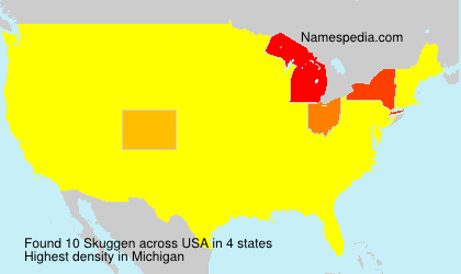 Surname Skuggen in USA
