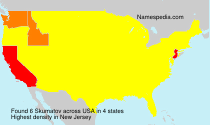 Surname Skumatov in USA