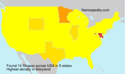 Familiennamen Skupas - USA