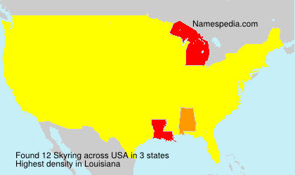 Surname Skyring in USA