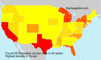 Surname Skywalker in USA