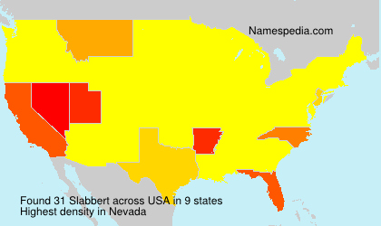 Surname Slabbert in USA