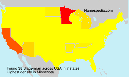 Surname Slagerman in USA