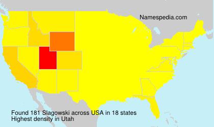 Familiennamen Slagowski - USA