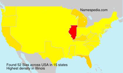 Surname Slas in USA