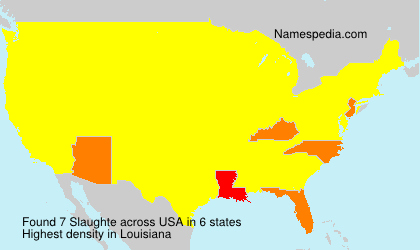 Surname Slaughte in USA