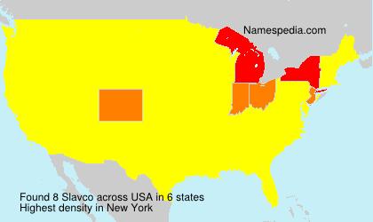 Surname Slavco in USA