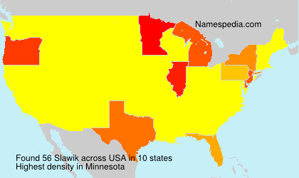 Surname Slawik in USA