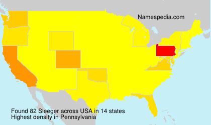 Familiennamen Sleeger - USA