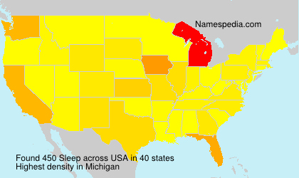 Familiennamen Sleep - USA