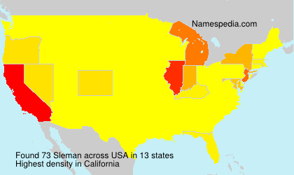 Surname Sleman in USA