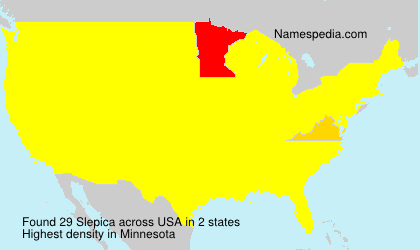 Surname Slepica in USA