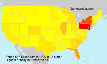 Surname Sliker in USA