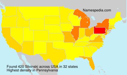 Familiennamen Slivinski - USA