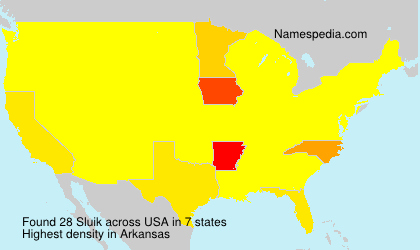 Surname Sluik in USA
