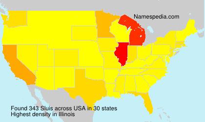 Surname Sluis in USA