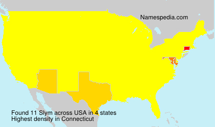 Surname Slym in USA