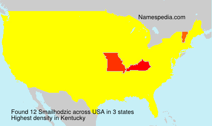 Surname Smailhodzic in USA