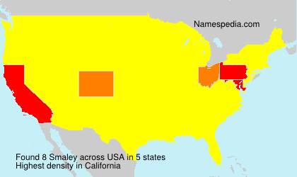 Surname Smaley in USA
