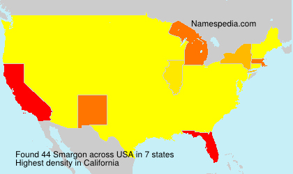 Surname Smargon in USA