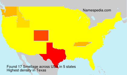 Surname Smellage in USA