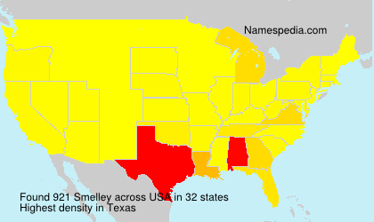 Surname Smelley in USA
