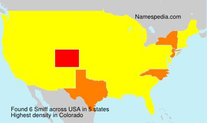 Surname Smiff in USA