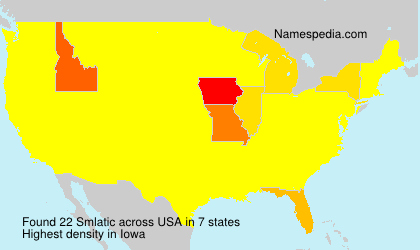 Surname Smlatic in USA