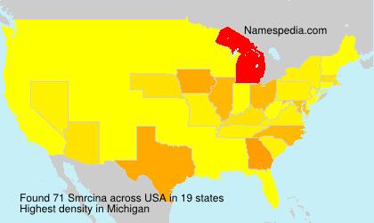 Familiennamen Smrcina - USA