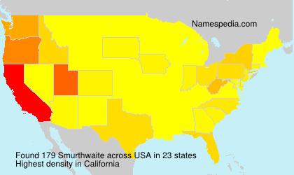 Surname Smurthwaite in USA
