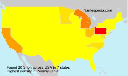 Surname Snoh in USA